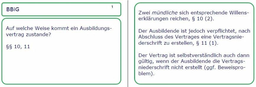 AEVO-Lernkarten-Muster zur Vorbereitung auf Ihre Ausbildereignungsprüfung