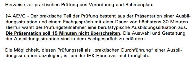 mehrere Jahre lang: rechtswidrig durchgeführte Ausbildereignungsprüfung IHK Hannover