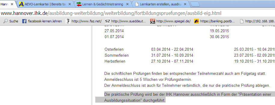 IHK Hannover, rechtswidrige AdA-Prüfung
