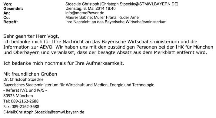 Fachaufsichtsbeschwerde wegen Ausbildereignungsprüfung IHK München