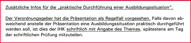 Schikane zur AdA-Prüfung, IHK Hannover