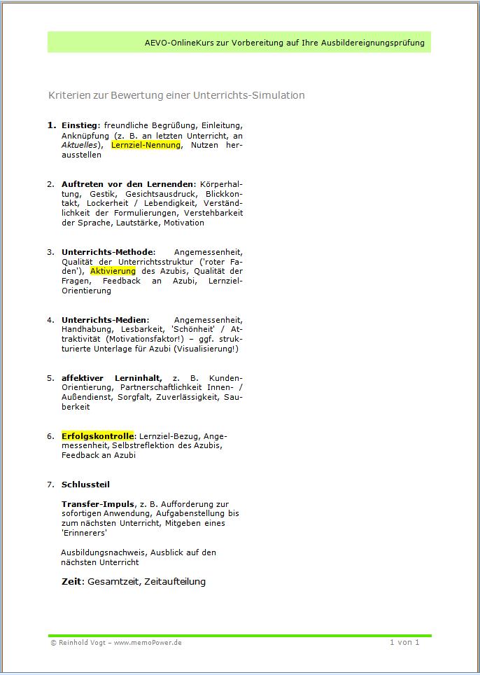 Diese Checkliste hat sich bei der Vorbereitung auf den AdA-Schein bewährt!