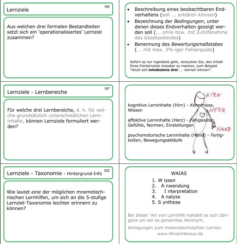 Lernkarten 185, 187 und 202