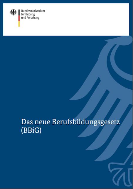 Deckblatt zum Berufsbildungesetz (BBiG), 2020