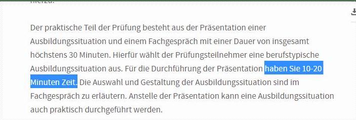 Screenshot von der Webseite der IHK Karlsruhe