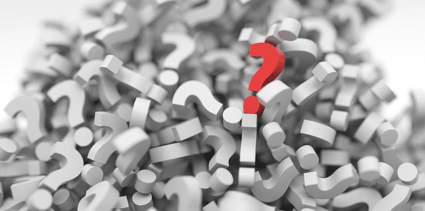Fragezeichen als Symbolbild: Lernerfolgskontrolle nach einem Lehrgespräch oderLeittext-Methodezum Selbst-Erarbeiten