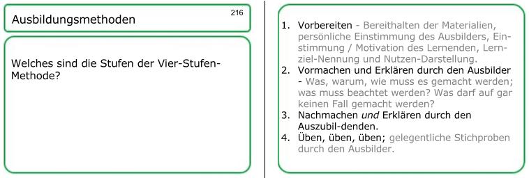 Pädagogische Details innerhalb meiner AEVO-Lernkartei