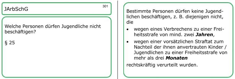 Jugendarbeitsschutzgesetz(JArbSchG)