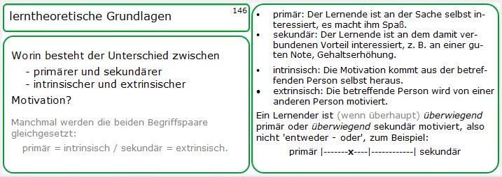Muster einer Lernkarte (Nummer 146) zur Vorbereitung auf die Ausbildereignungsprüfung