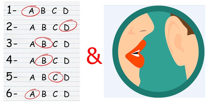 Symbolbild für schriftliche und mündliche Prüfung