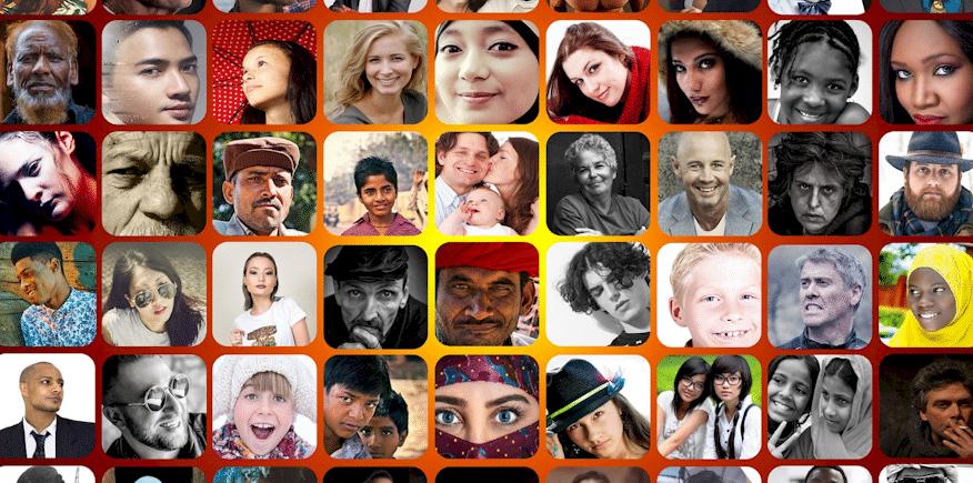 Mosaik mit ganz vielen Gesichtern